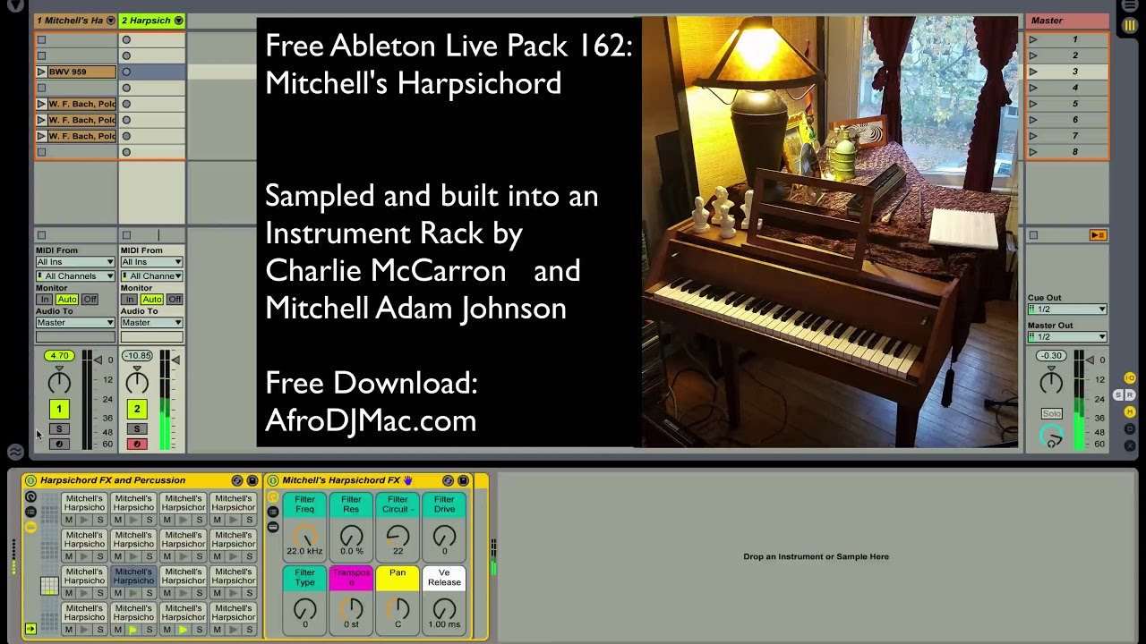 Harpsichord - Free Ableton Live Pack 162 — Brian Funk