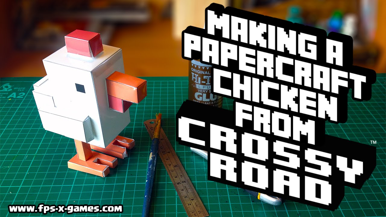 Papercraft Making a Papercraft Chicken from Crossy Road