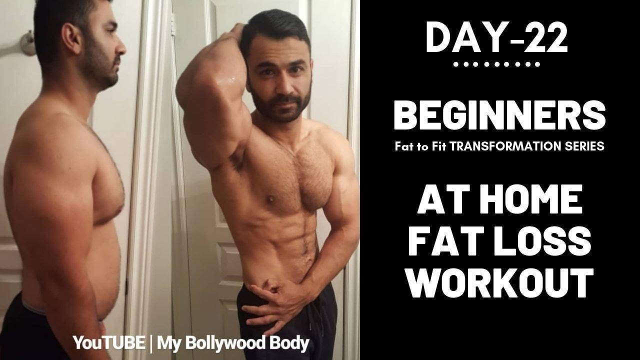 At Home Beginners FAT LOSS Workout! Day-22 (Hindi / Punjabi)