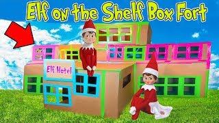 ELF on the SHELF 3 Story BOX FORT!