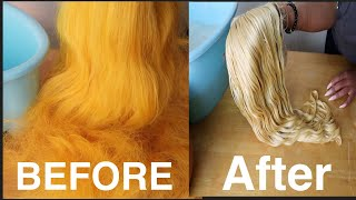 HOW TO REMOVE COĻOR FROM WIG! QUICK, EASY & AFFORDABLE