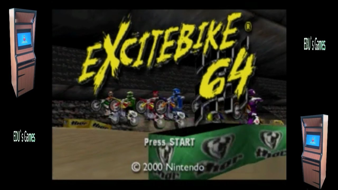 Excitebike n64 Retropie Rom Pack gameplay