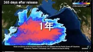 10年後の太平洋放射能汚染シミュレーション (Future Pacific Ocean Radioactivity SIM) thumbnail