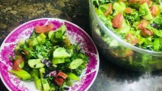 Летний салат из овощей и зелени. Самый вкусный  | Irinochka HandMade