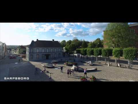 The Norwegian City ( Sarpsborg ) in 4K -aerial