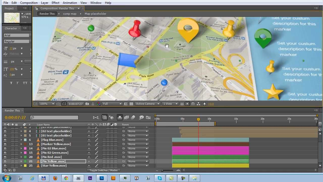 Map Generator with Real 3D Markers Project TUTORIAL YouTube – Travel Map Generator