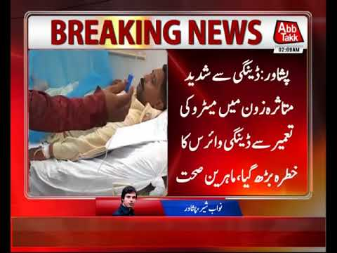 Dengue Threat Increases By Construction of Metro in Peshawar