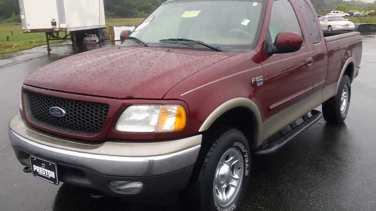 2003 ford f150 lariat 4wd v8 shocking 38 000 miles one owner used truck for sale maryland youtube. Black Bedroom Furniture Sets. Home Design Ideas