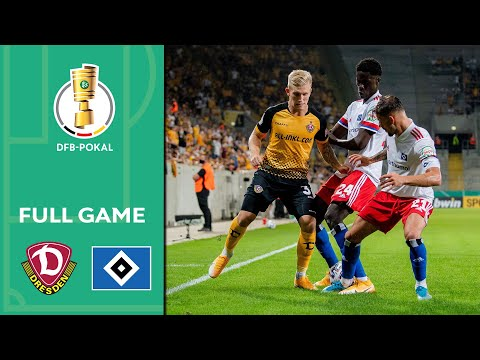 Dynamo Dresden Vs. Hamburger SV 4-1 | Full Game | DFB-Pokal 2020/21 | 1st Round