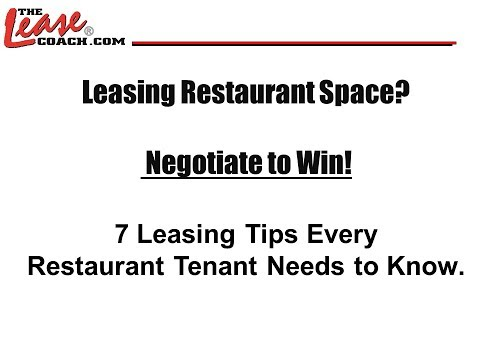 In Collaboration With Total Food Service News - 7 Leasing Tips Every Restaurant Tenant Should Know