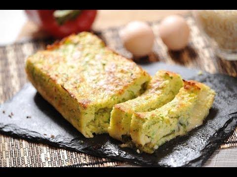 Pastel de calabacitas Zucchini cake Recetas de vgetales