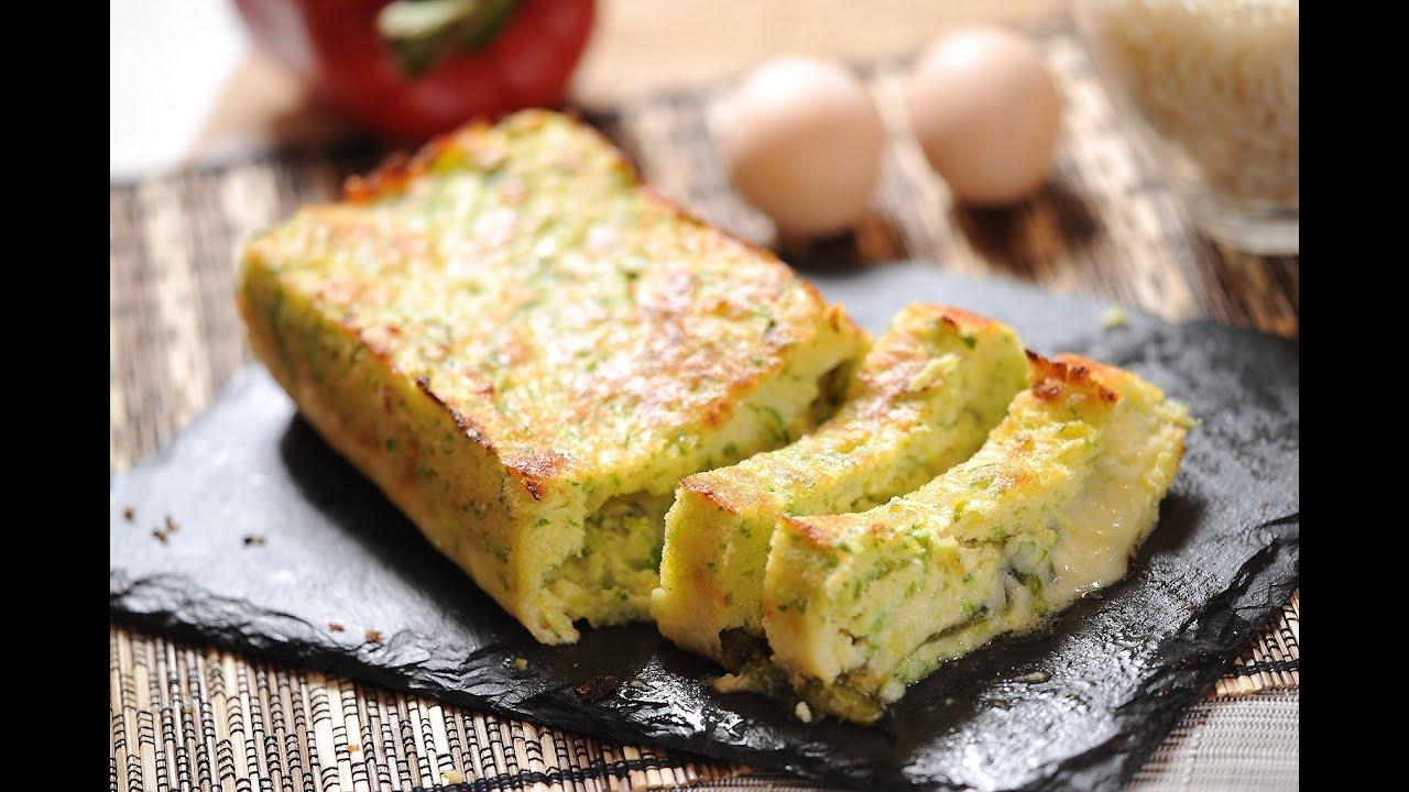 Pastel de calabacitas - Zucchini cake - Recetas de vgetales