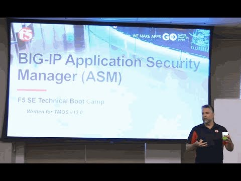 F5 3-day Partner Boot Camp - BIG-IP ASM Lesson 1