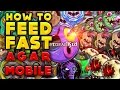 AGAR.IO MOBILE + HOW TO MACRO (FEED FAST) GAMEPLAY FROM ABS0RB & DUAL AGAR