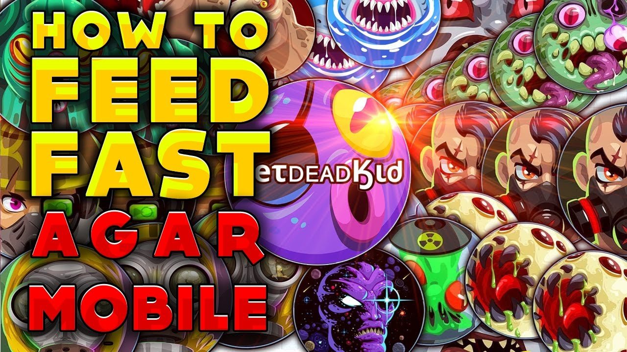 AGAR IO MOBILE + HOW TO MACRO (FEED FAST) GAMEPLAY FROM ABS0RB
