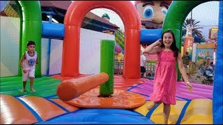 Bouncy Play Area Kids Having Fun