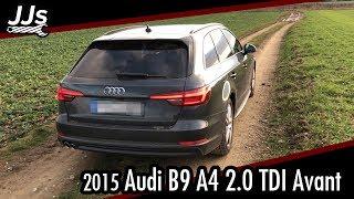 Test/Review 2015 Audi A4 B9 Avant 2.0 TDI S-Tronic S-Line Black Edition Deutsch // JJsGarage
