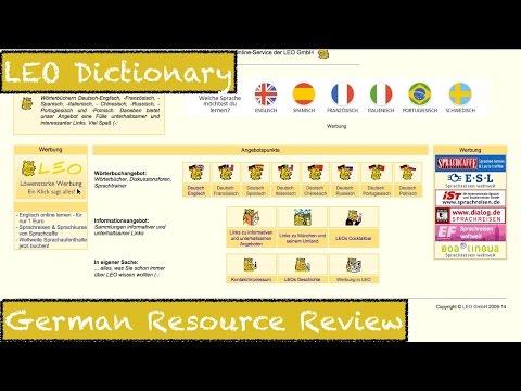 LEO Dictionary - German Resource Review - Deutsch lernen