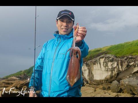 IsoFishingTV - The basics of Eging (Squid fishing) from the shore with Yamashita. エギ王シリーズ紹介, 에깅 낚시