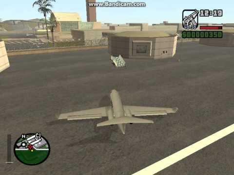 как правильно взлететь на самолете в Gta San Andreas