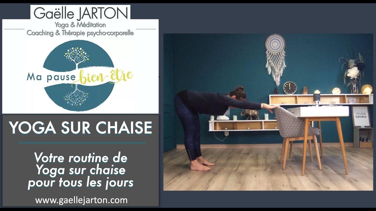 """Nouvelle vidéo spéciale """"Routine Yoga sur chaise pour tous les jours », dispo sur ma chaine YouTube"""
