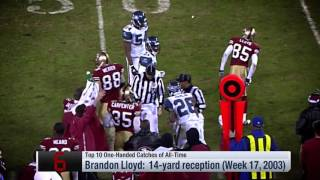 NFL top 10 One Handed Catches Of All time