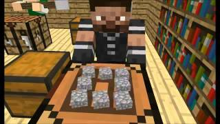 Minecraft animaciya Shkola igrokov Epizod 1 Crafting Video