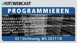 02: Programmieren, Vorlesung, WS 2017/18