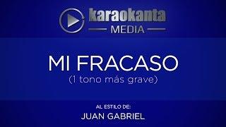 Karaokanta - Juan Gabriel - Mi fracaso (1 tono más grave)