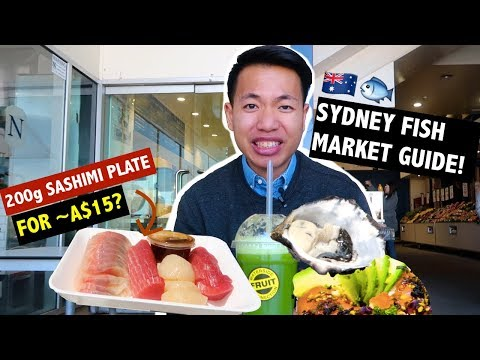 CHEAP FOOD GUIDE + TIPS @ SYDNEY FISH MARKET Vlog! 🐟🇦🇺