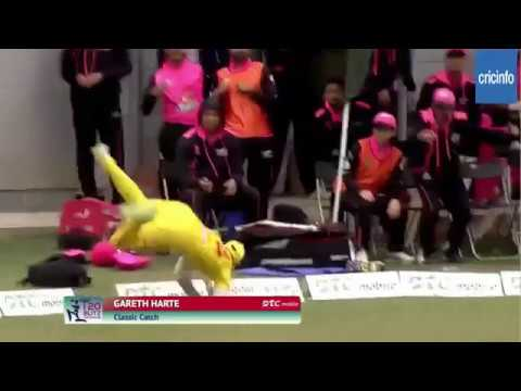 Gareth Harte unbelievable catch off Darren Sammy in DTC HK T20 Blitz