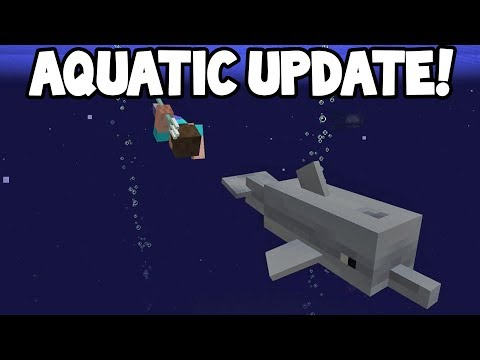 Minecraft 1.14 - Aquatic Update Features! (DOLPHINS, TRIDENT, MORE)