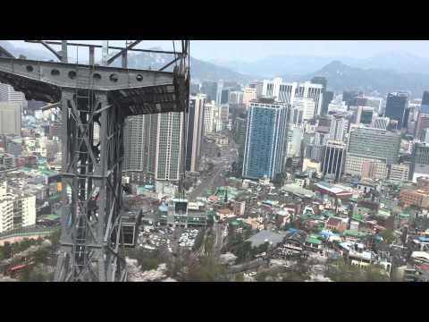 Seoul Tower Cable Car Down April 2015