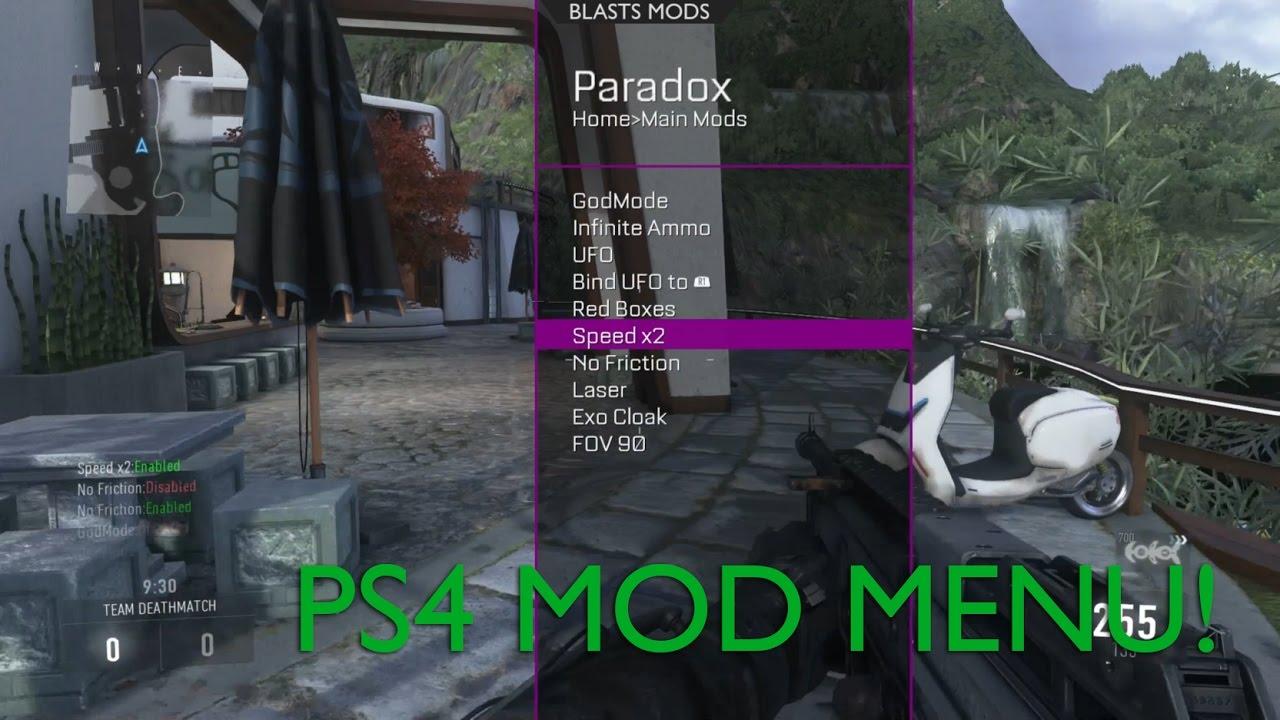 PS4 Advanced Warfare Mod Menu by Swaqq, Sabotage & Blasts