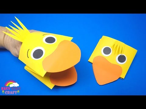 How to Make a Paper Chick Puppet | Easter Craft for Kids
