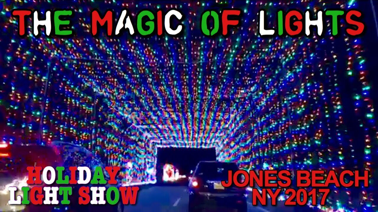 magic of lights holiday light show jones beach ny 2017 vlog s1e1 - Jones Beach Christmas Light Show