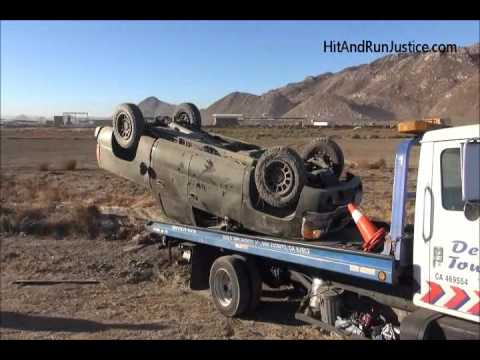 GMC Sierra Pickup Truck Rolled Over Ramona Expressway San Jacinto CA 10 21  2016