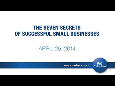 The Seven Secrets of Successful Small Businesses