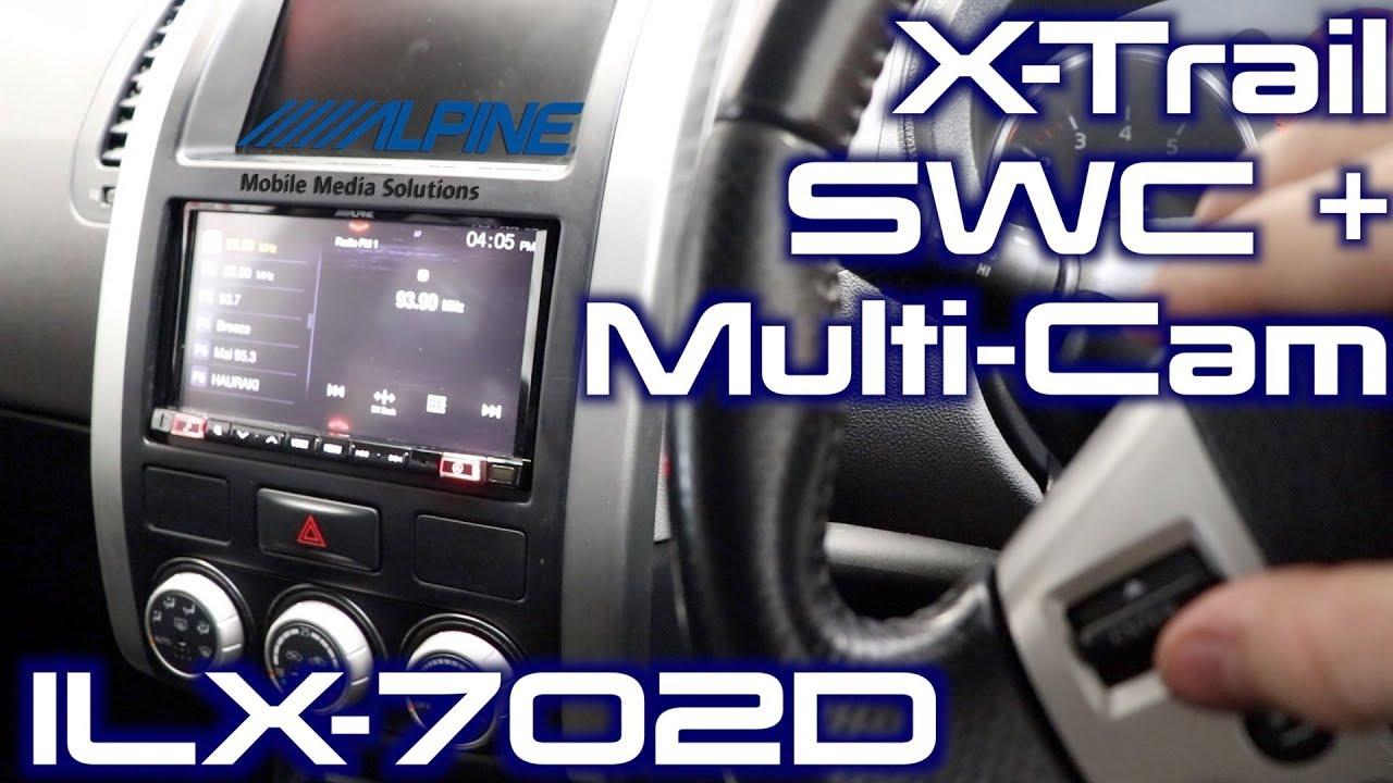hight resolution of nissan x trail steering wheel controls multi camera alpine setup