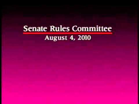Senate Rules Committee 8/4/2010