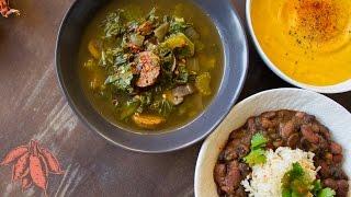 Vegan Winter Soups | Chili, Green Gumbo, and Sweet Potato Bisque