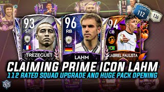 CLAIMING PRIME ICON LAHM AND 112 RATED HUGE SQUAD UPGRADE | HUGE PACK OPENING | FIFA MOBILE 21 |