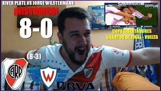 RIVER PLATE VS JORGE WILSTERMANN 8-0 | REACCION | COPA LIBERTADORES