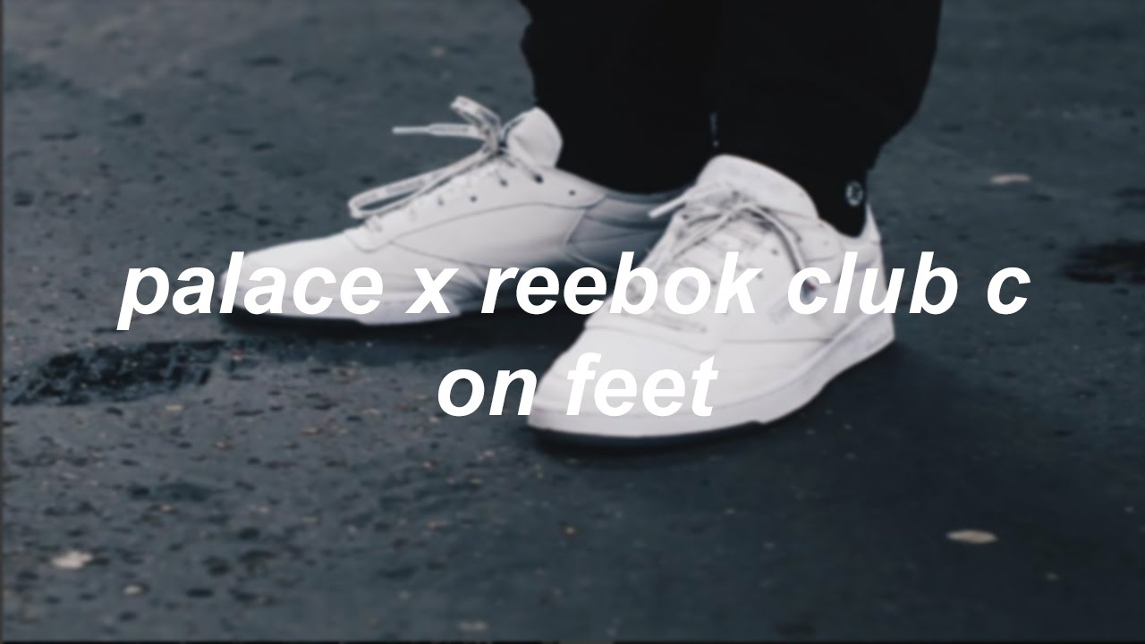 1cb4ac2a3d1 Palace Palace Reebok Club C Reflective 3m Size US 8.5 EU 41-  Palace x Reebok  Club C White On Feet philliper ...