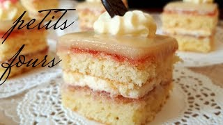 Petit Fours Recipe | Small Cakes with Marzipan Fondant