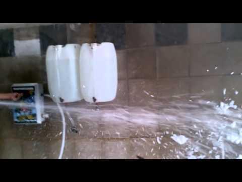 Maquina de espuma simple (2 tambores )