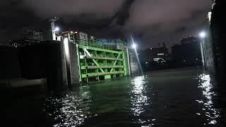 あのBoilを取る-築地川水門 Tokyo Bay Seabass Night Fishing 2018.09.08