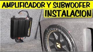 Instalacion de amplificador y subwoofer (sencillo y detallado)