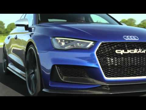 Audi A3 clubsport quattro concept driving footage