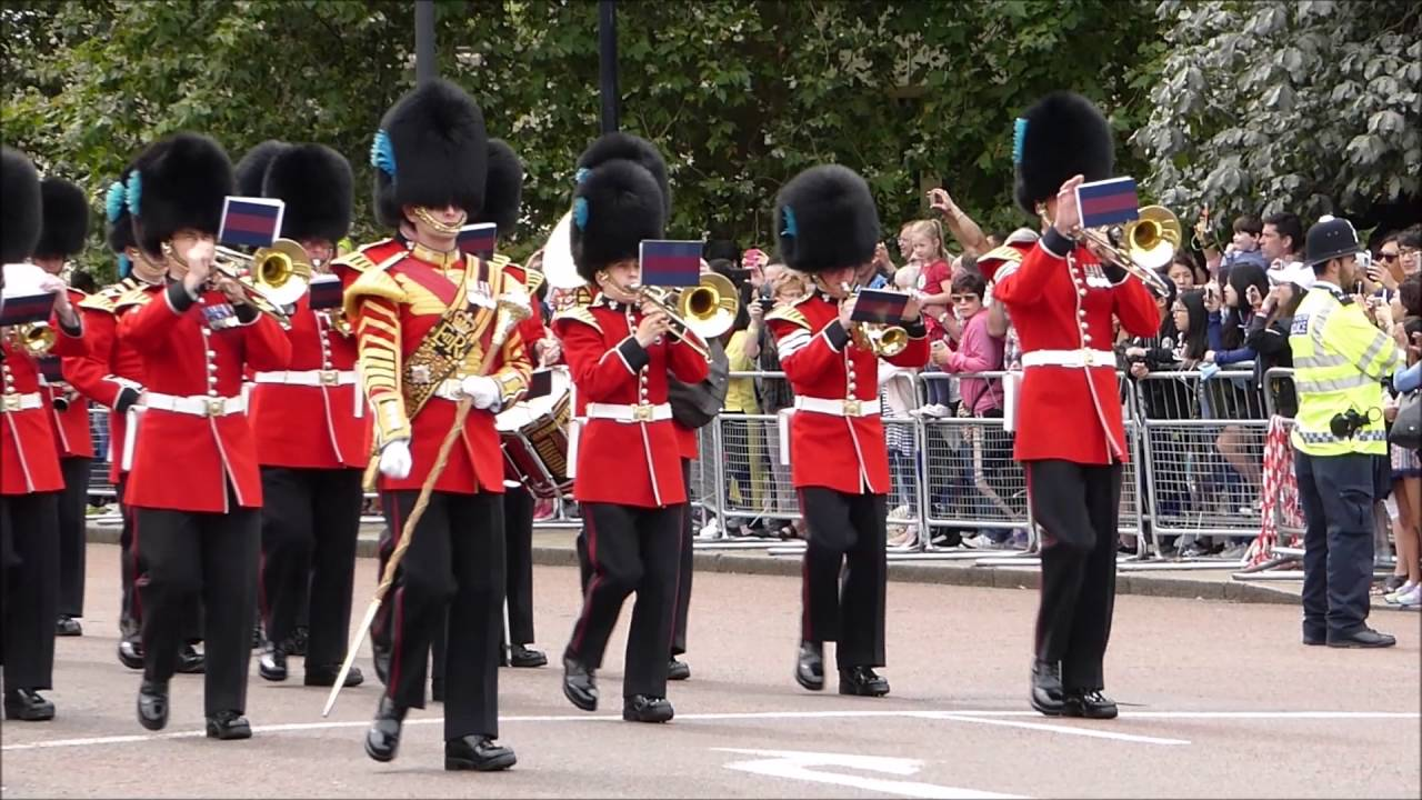Band of The Irish Guards Changing the Guard at Buckingham Palace 1 August  2016